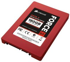 "Corsair Force Series GT Red 180GB  (6Gb/s) SATA 3 SF2200 controller Synchronous SSD (CSSD-F180GBGT-BK) by Corsair. $191.73. From the Manufacturer                                   Want the fastest SSDs that Corsair makes? Choose Force Series GT.                                                      Corsair SSDs are 2.5"" wide, the same size as notebook hard drives. An adapter is included for mounting in standard desktop PC 3.5"" drive bays.                                      ..."