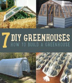 Want to learn how to build a greenhouse? Here are a few of our favorite DIY greenhouse ideas using simple building supplies! Build A Greenhouse, Greenhouse Gardening, Greenhouse Ideas, Large Greenhouse, Outdoor Projects, Garden Projects, Diy Projects, Make Green, Exterior