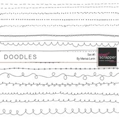Doodles Kit #1| digital scrapbook templates