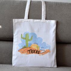 Items similar to Texas Tote Bag. Cotton Made With Long Handles. on Etsy Texas, Reusable Tote Bags, Spirit, Trending Outfits, Unique Jewelry, Handmade Gifts, Etsy, Kid Craft Gifts, Craft Gifts