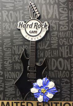 2017 Hard Rock Cafe Denver Columbine Guitar Pin.
