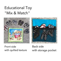 Teaching tool for young children. Matching game