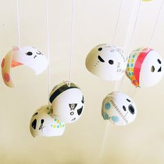 Turn eggshells into party ghosts!