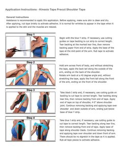 Simple kinesiology tape instructions for shoulder