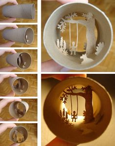 toilet paper roll art. WOW