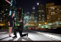 i really like the city skyline in the background - it looks great... engagement pictures in the city might be nice.