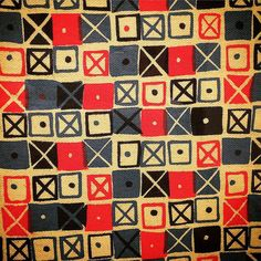 'Crosspatch' textile (1947-49) by Ray Eames at Barbican Art Gallery.   by littlemyy03 #eames @barbicancentre
