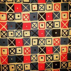 Original color version of Ray Eames Crosspatch textile