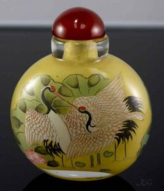Buy online, view images and see past prices for Chinese Snuff Bottle Invaluable is the world's largest marketplace for art, antiques, and collectibles. Small Bottles, Old Bottles, Vintage Bottles, Bottle Box, Bottle Vase, Chinoiserie, Art Asiatique, Art Deco Movement, Antique Perfume Bottles