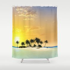 #Island #Shower #Curtain by nicky2342 - $68.00