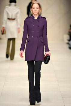 PURPLE! It's only appropriate that I own a coat like this one day soon.