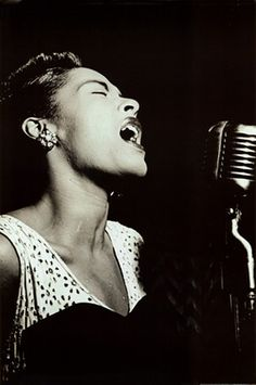 Billie Holiday - At The Downbeat Club, New York http://www.voteupimages.com/billie-holiday-at-the-downbeat-club-new-york/