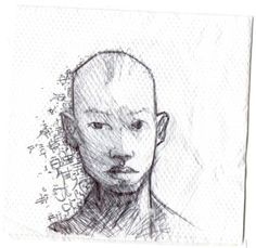 Napkin Sketches - Chinese Man