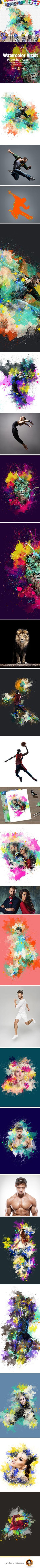 Watercolor Artist Photoshop Action — Photoshop ATN #action #digitalart • Download ➝ https://graphicriver.net/item/watercolor-artist-photoshop-action/20027897?ref=pxcr