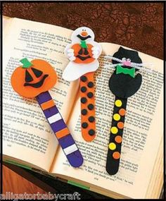Halloween Bookmark Craft Kit Pumpkin Ghost Cat ABCraft on eBay!