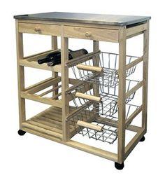 Wood Kitchen Cart by ORE International Image
