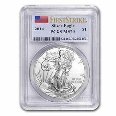 New-2014-American-Silver-Eagle-1oz-First-Strike-PCGS-MS70-Graded-Slab-Coin