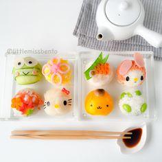 Sanrio Temari Sushi Bento. Omg this sushi is the fucking cutest.
