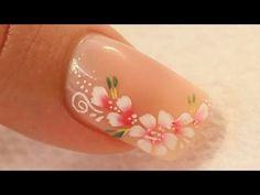 Red Pink & White | Water Marble March 2014 #1 | DIY Nail Art Tutorial - YouTube