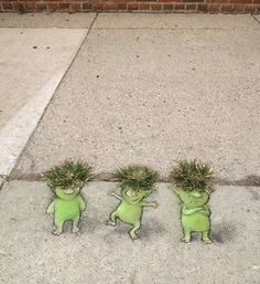 David Zinn pavement chalk art