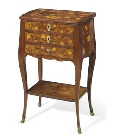 A LOUIS XV ORMOLU-MOUNTED AMARANTH, KINGWOOD, BOIS SATINE AND MARQUETRY OCCASIONAL TABLE CIRCA 1740 | Christie's