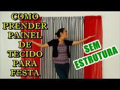 COMO PRENDER PAINEL DE TECIDO PARA FESTA - CORTINA SEM ESTRUTURA