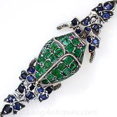 Antique Scarab Vinaigrette Bracelet - 40-1-3944 - Lang Antiques