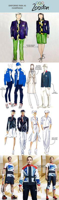 uniformes das olimpíadas 2012 de Londres assinado por estilitas famosos, no blog MeninaIt