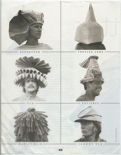 Paper bag hats by Moses. He made some 250 hats out of paper bags - aren't they super fantastic!   more hats here .         Bloum Cardenas...