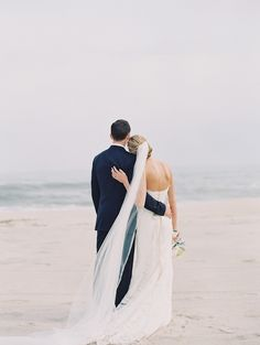 #beach  Photography: Carmen Santorelli Photography - carmensantorellistudio.com Wedding Dress: Judd Waddell From Kleinfeld Bridal - kleinfeldbridal.com