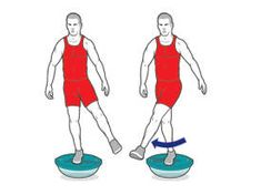Ankle and core strength exercises for cycling power - upside down bosu ball - balance and core strength
