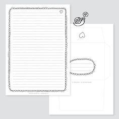 Writing sheet freebie - Snailmail Magazine