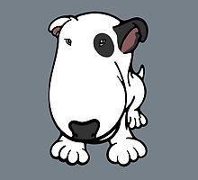 Blabla Black Eye Patch Cartoon Bull Terrier by Sookiesooker