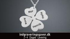 Smykker nordjylland |  Håndlavede smykker nordjylland Halskæde med firkløver i sølv