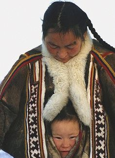 Nenets mother daughter Yamal Siberia