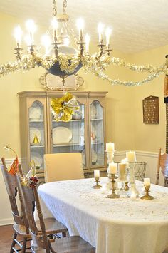 New Year's Eve party decorated with dollar store Christmas decorations.  @Cha Cha @The Heartfelt Home
