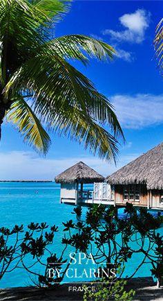 St. Regis, Bora Bora. #polynesia  #paradise #spabyclarins  #SkinTrip