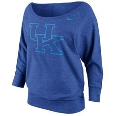 Nike Kentucky Wildcats Ladies Lazy Day Boatneck Sweatshirt - Royal Blue