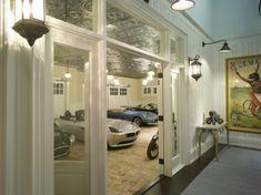 Classic White Luxury Garage | More here: http://mylusciouslife.com/stylish-home-luxury-garage-design/