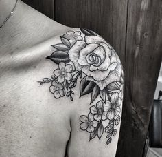 by jennifer lawes floral tattoo
