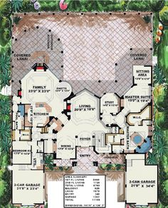 Stunning Two-Story Luxury Home Plan - 66070WE | 1st Floor Master Suite, Butler Walk-in Pantry, CAD Available, Den-Office-Library-Study, Elevator, Florida, Luxury, MBR Sitting Area, Media-Game-Home Theater, Mediterranean, PDF, Photo Gallery, Premium Collection | Architectural Designs