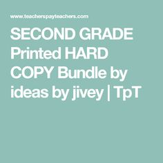 Browse over 360 educational resources created by ideas by jivey in the official Teachers Pay Teachers store. Mentor Sentences, Second Grade, Teacher Pay Teachers, Education, Printed, Ideas, Prints, Onderwijs, Learning