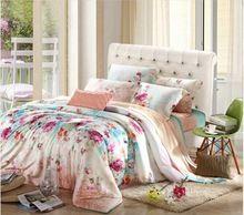 Têxtil de stain tencel 4 pcs jogo de cama rainha cama king size conjunto folha de cama capa de edredon cama fronha linen conjuntos de cama bedding set jogo de cama roupa de cama lençol bedding sets(China (Mainland))