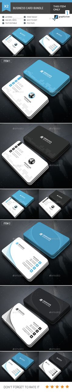 Business Card Template Bundle PSD. Download here: http://graphicriver.net/item/business-card-bundle/14617895?ref=ksioks