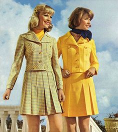Mini-skirted suits