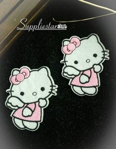 Iron On Patch Hello Kitty Appliques Pink Hello by Suppliestar, $12.00