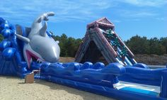 Cape Cod Inflatable park :)) my beloved shark ))