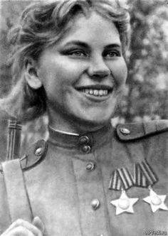 Roza Georgiyevna Shanina[a] (Russian: Ро́за Гео́ргиевна Ша́нина, IPA: ['rozə 'ʂanʲɪnə]; 3 April 1924 – 28 January 1945) was a Soviet sniper during World War II, credited with 54 confirmed kills, including 12 snipers during the Battle of Vilnius. Praised for her shooting accuracy, Shanina was capable of firing precise semi-automatic shots on moving enemy targets. She volunteered to serve as a marksman on the front line.