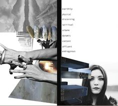 Fashion Moodboard - fashion design development, customer research board for Rick Owens Project // Charlotte Osman