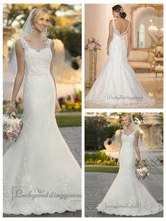 Straps Lace Appliques Trumpet Mermaid V-back Wedding Dresses http://www.ckdress.com/straps-lace-appliques-trumpet-mermaid-vback-  wedding-dresses-p-2012.html  #wedding #dresses #dress #lightindream #lightindreaming #wed #clothing   #gown #weddingdresses #dressesonline #dressonline #bride